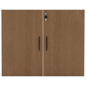Virginia Modern Walnut Bookcase Door Set