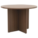 Virginia Modern Round Conference Table in Walnut