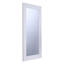Vista Mini White Modern Mirror