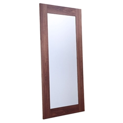 Vista Walnut Wood Fame Modern Mirror