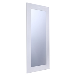 Vista White Wood Frame Modern Mirror