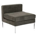 Vittorio Dark Gray Modern Armless Chair