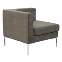 Vittorio Dark Gray Modern Corner Chair