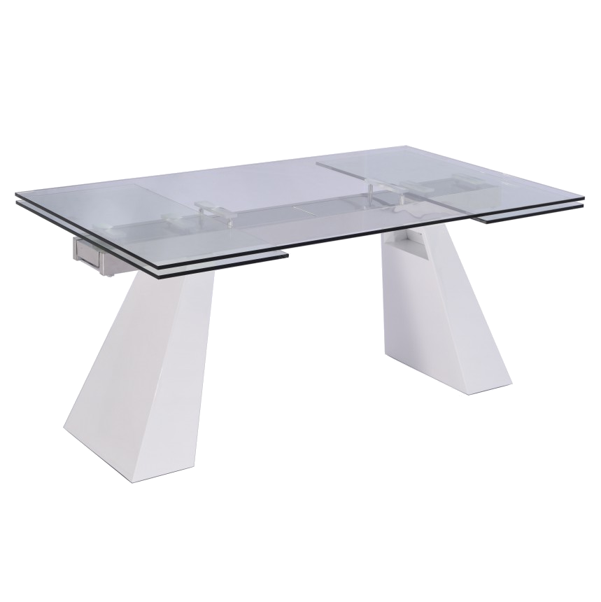 Vittorio White Modern Extension Dining Table
