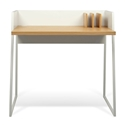Volga Oak + White Small Modern Desk