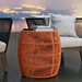 Modloft Volta Orange Cord Modern Outdoor Accent Table - Lifestyle