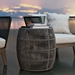 Modloft Volta Shades of Gray Cord Modern Outdoor Accent Table - Lifestyle