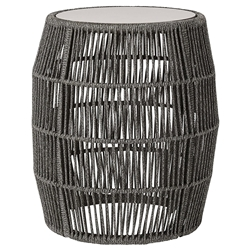 Modloft Volta Shades of Gray Cord Modern Outdoor Accent Table