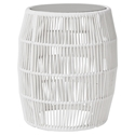Modloft Volta White Cord Modern Outdoor Accent Table