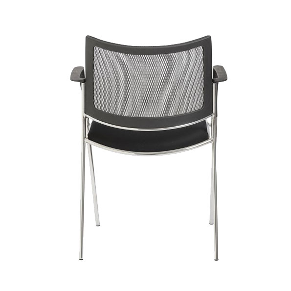 Vonda Black Contemporary Arm Chair