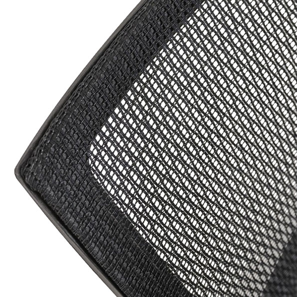 Vonda Black Modern Guest Chair Detail