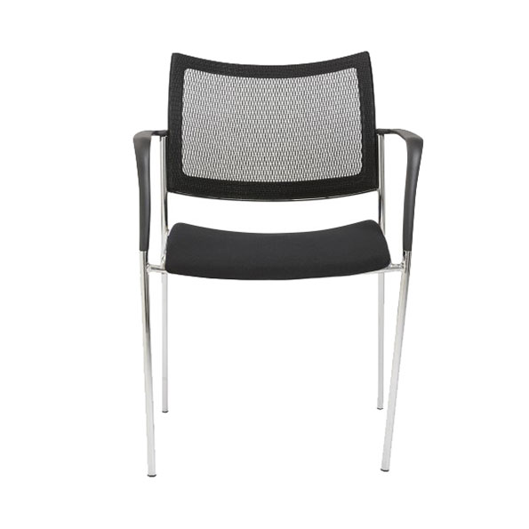 Vonda Black Contemporary Guest Chair