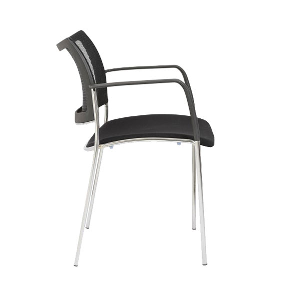 Vonda Black Modern Arm Chair