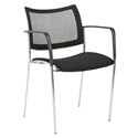 Vahn Black Modern Guest Chair