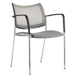 Vahn Gray Modern Guest Chair
