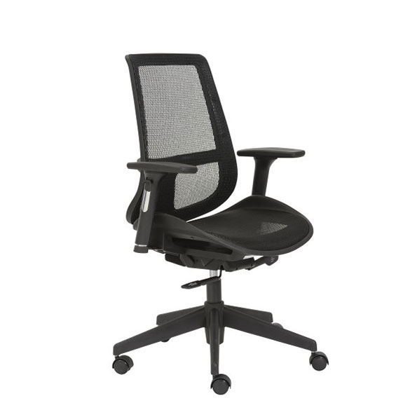 Vonda Black Contemporary Office Chair