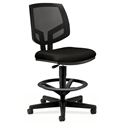 Voyage Modern Mesh Back Task Stool in Black
