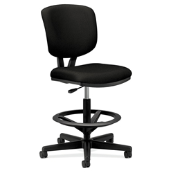 Voyage Modern Upholstered Task Stool in Black