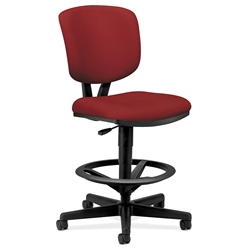 Voyage Modern Upholstered Task Stool in Crimson