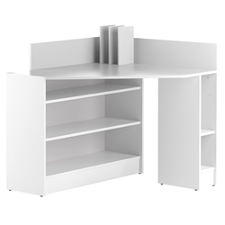 Wall Modern Corner Desk in White Laminate by TemaHome