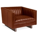 Gus* Modern Wallace Brown Saddle Leather Arm Chair