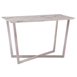 Walsh Modern Faux Marble Desk or Dining Table