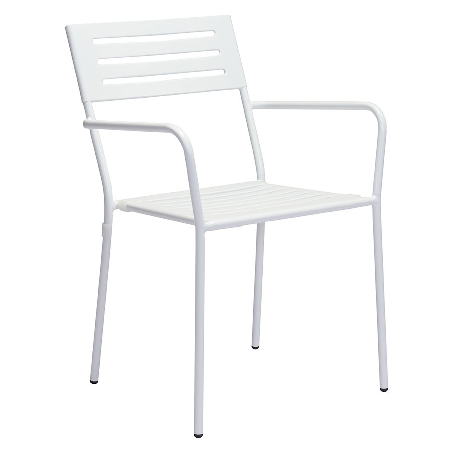 Walter white modern outdoor arm chair eurway for Arm chair white