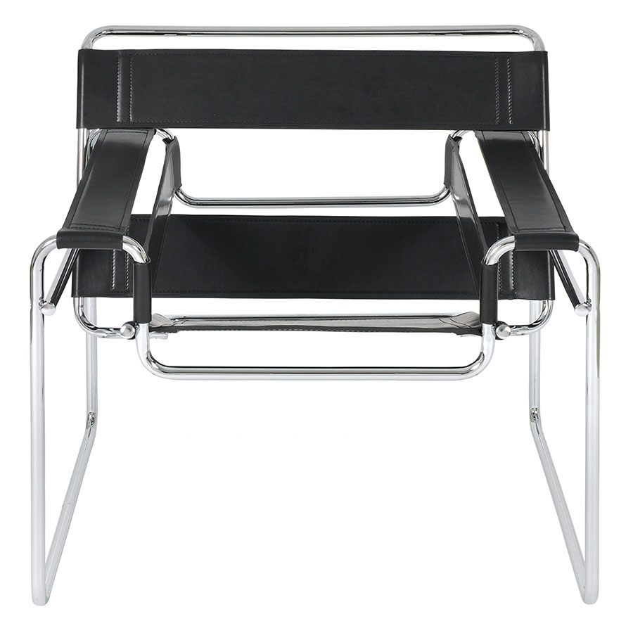 Wassily Classic Modern Lounge Chair  Wassily Modern Classic Chair in Black  - Front View ...