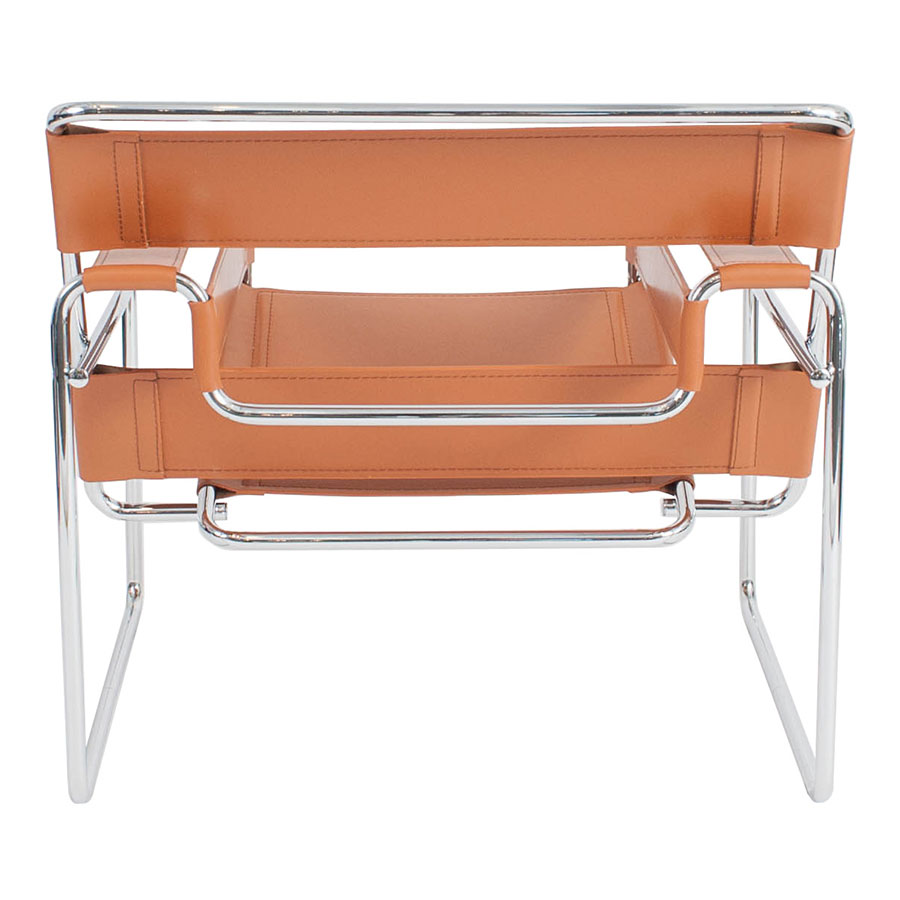 Wassily Modern Classic Chair in Cognac - Back View