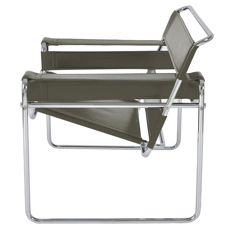 ... Wassily Modern Classic Chair In Gray   Side View ...
