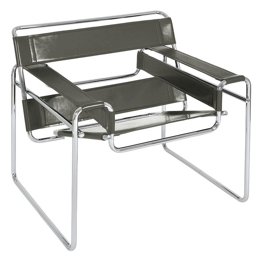 Call To Order · Wassily Modern Classic Chair In Gray Top Grain Leather