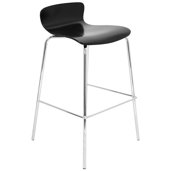 Weatherford Modern Black Stacking Bar Stool