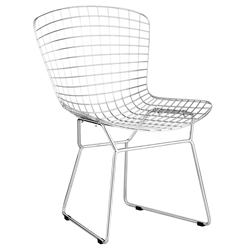 Wire Modern Chrome Dining Chair