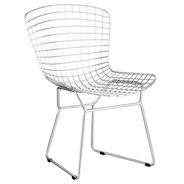 Wire Modern Chrome Dining Chair by Zuo