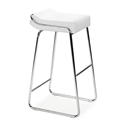 Wedge Modern Chrome + White Bar Stool