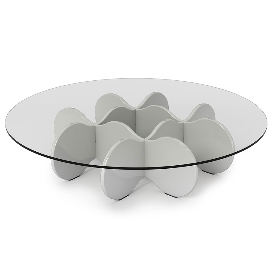 Superb Wellington Modern White Coffee Table