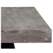 Wendall Contemporary Rectangle Dining Table Detail