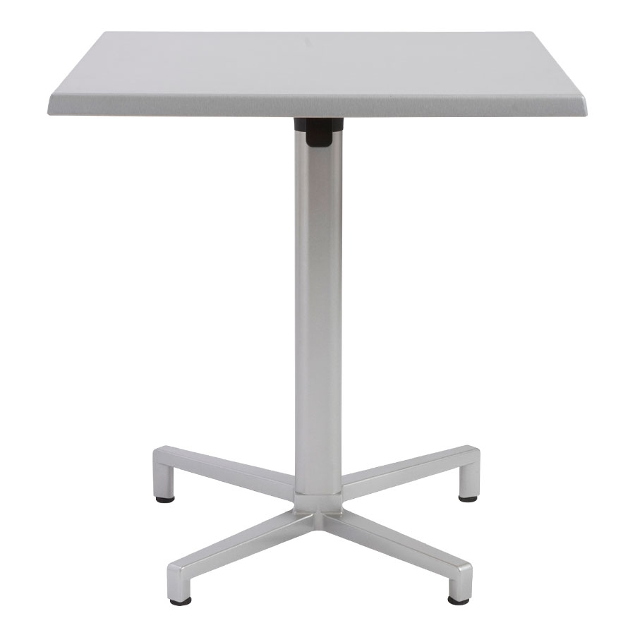 Wendell Folding Outdoor Bistro Table in Silver