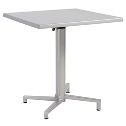 Wendell Folding Bistro Table in Silver