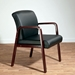 Wendell Contemporary Mahogany Reception Chair