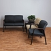 Wendell Mahogany Reception Chair + Loveseat