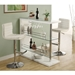 Wendy Contemporary White Adjustable Bar Stool