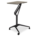 Werkpal Modern Adjustable Laptop Desk in Gray/Black