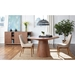 Westerly Modern Round Walnut Dining Table