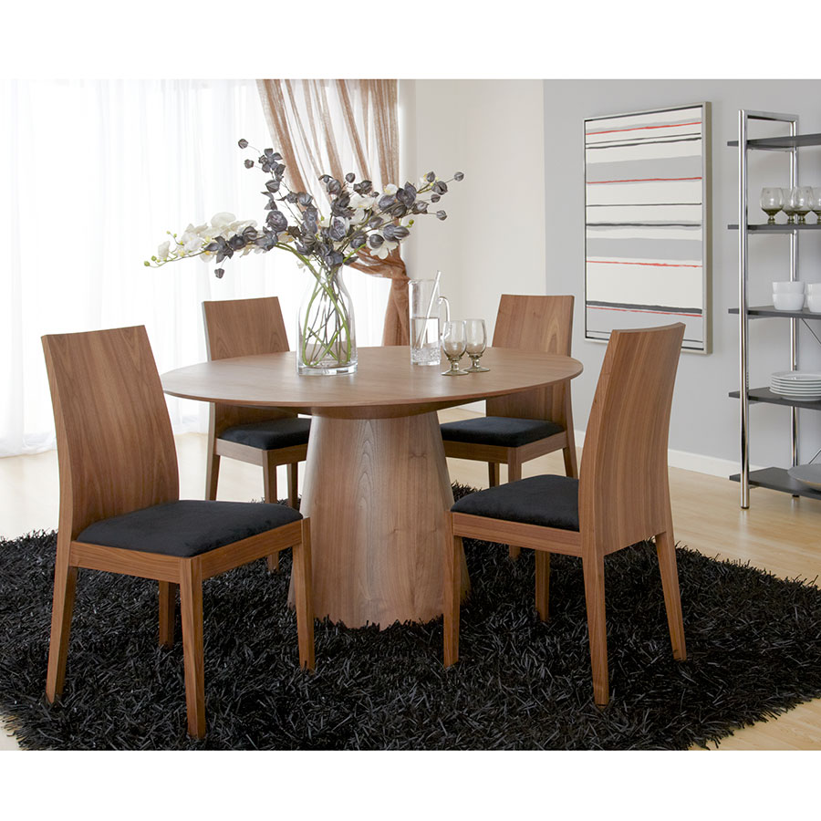 Westerly Modern Walnut 53 Dining Table Eurway Furniture