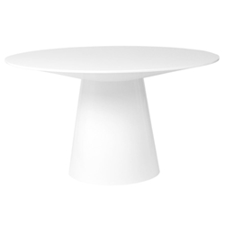 Wesley Modern White Round Dining Table