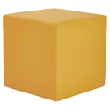 Westin Modern Cube Bench in Saffron Leather