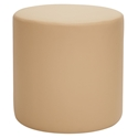 Westin Modern Cylinder Bench in Beige Leather