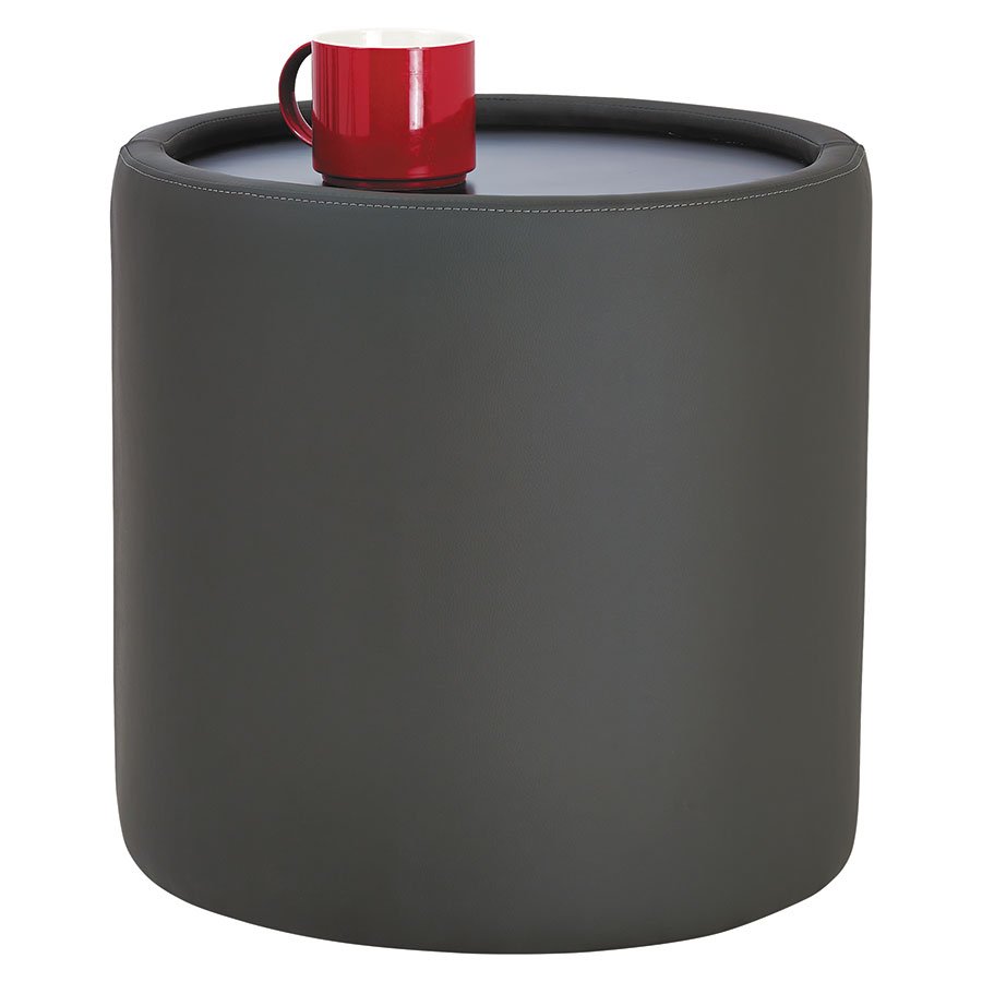 Call To Order · Westin Modern Cylinder Table In Slate Leather