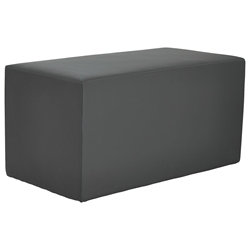 Westin Modern Rectangular Bench in Slate Leather